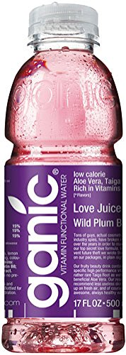 Ganic - Love Juice Wild Plum, Vitaminwater - 500 ml