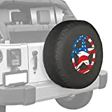 Boomerang Jeep Wrangler JK - 32' Distressed Star - Spare Tire Cover - American Flag - Made in The USA