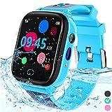 Kids Smart Watch Phone - IP67 Waterproof Smartwatch Boys Girls with Touch Screen 5 Games Camera Alarm SOS Call - Phone Watch Digital Wrist Watch for 3-13 Years Children Birthday Gift (Blue)