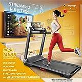Sportstech FX300 Ultra Slim Laufband – Deutsche Qualitätsmarke – Video Events & Multiplayer APP, Riesen Lauffläche 51x122cm & kein Aufbau, 16 km/h,USB Ladeport, Pulsgurt kompatibel für Cardio Training - 3