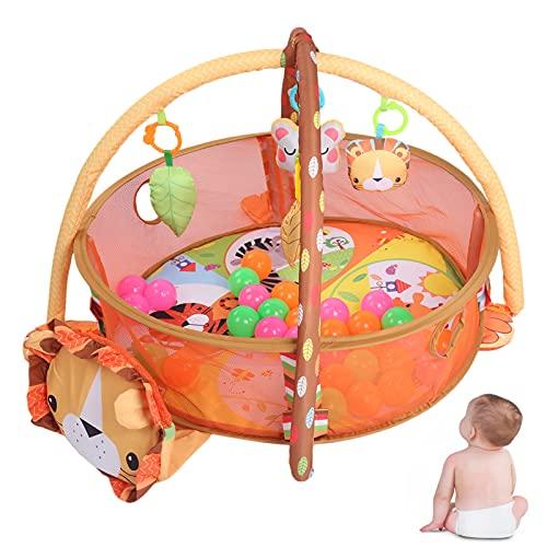 Alfombra de juego, alfombra de juego de gimnasio para bebés, decoración duradera y encantadora para el hogar, alfombrilla de gateo para recién nacidos, alfombrilla de juegos para niños(lion)