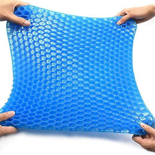 YLiansong-home Seat Cushion Chair Cushion Breathable Gel Cushion High Elastic Chair Cushion Comfortable Cushion Washable Lid (Color : Blue, Size : 43X37.5CM)