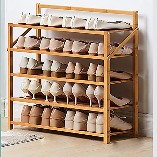 YQCX Zapatero,Estante de Zapatos de Bambú Plegable, Estante de Alenamiento Del Organizador de Zapatos Portátiles, sin Instalación Roses de Zapatos Independientes para el Pasillo Cua