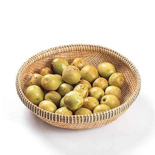 Cestas de mimbre, cestas de mimbre de tejido de bambú, decoración hecha a mano de la decoración de la fruta de la fruta de la fruta, para el organizador de la cocina 22 cm / 26 cm / 29cm / 32cm / 35cm
