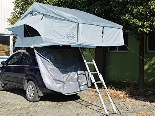 Prime Tech Extended XXL - Tienda de campaña para el techo del coche (320 x 180 x 130 cm), color gris