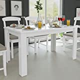 Festnight Tavolo da Pranzo/Tavoli da Cucina 140 x 80 x 75 cm Quercia/Bianco
