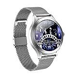Kw10pro Smart Watch Ladies IP68 Impermeabile Impermeabile Braccialetto Bluetooth Smart Bluetooth Con Pressione Sanguigna E Monitor Della Frequenza Cardiaca, Adatto Per L'orologio IOS Android,Argent