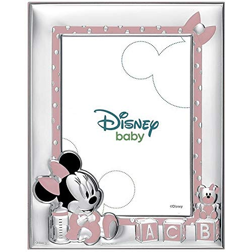 Cadre Photo Portafotos Plata Loi Sur 925M Disney Photo 13X18Cm. Minnie Rosa Bilaminate Baby Cubes