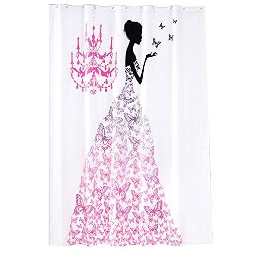 Mai® Duschvorhang, Butterfly Fairy Polyester Stoff Bad wasserdichte Duschvorhänge (größe : 170 * 180cm)