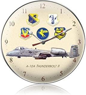 Past Time Signs C039 A-10A Thunderbolt Ii Aviation Clock
