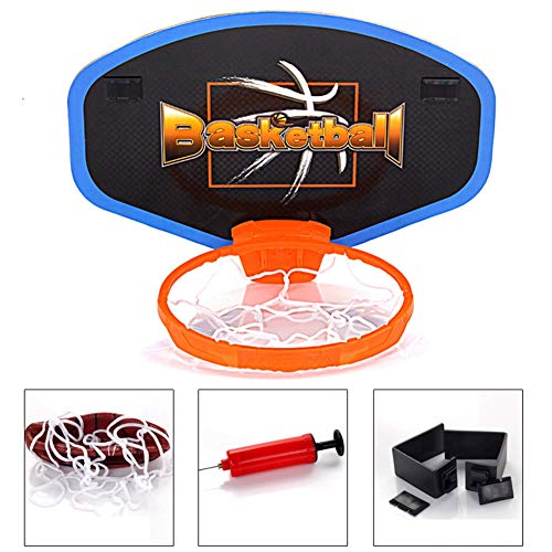 XALZ Mini Basketbal Hoop Set Standaard Rim Slam Over De Deur Hangend Type Basketbal Board Binnen Basketbal Hoop Bal Slaapkamer Badkamer Office Desktop
