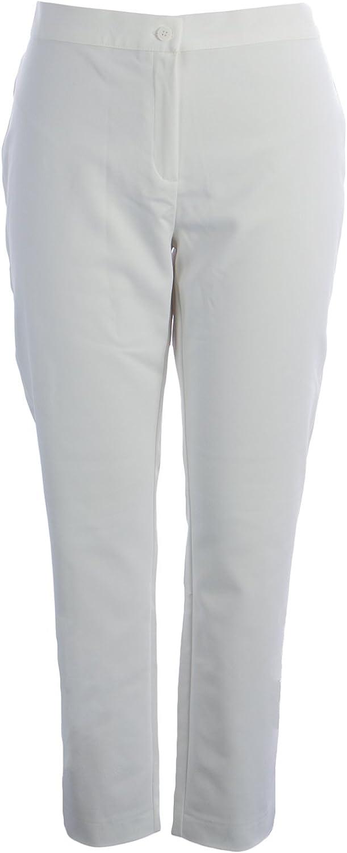Marina Rinaldi Women's Remo Slim Fit Dress Pants White