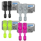 AMLY 4 Pairs of Elastic No Tie Shoelaces, Upgraded Lock, Reflective Shoe Laces for Kids and Adults (Black-Gray-Yellow-Pink)