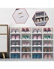 Aohuada 20 stuks transparante schoenendoos schoenenopslag schoenenbox lade stapelbare dozen transparante schoenenrek stapelbare schoenenbox schoenenbox organizer