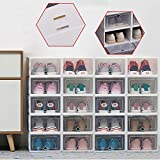Wangkangyi - Caja de almacenamiento para zapatos (20 unidades, plástico), transparente