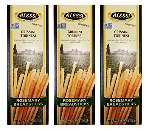 Alessi Thin Rosemary Breadsticks, 3.0 Ounce (Pack of 3)