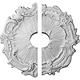 Ekena Millwork CM16PL2-03500 Plymouth Ceiling Medallion, 16 3/4'OD x 3 1/2'ID x 1 3/8'P (Fits Canopies up to 3 1/2'), Factory Primed