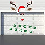 Rtudan Christmas Garage Door Decorations-Christmas Outdoor Garage Archway Car Party Decor Balcony Decorate Window Decoration for Christmas Supplies(Assembly Needed) (Antlers)