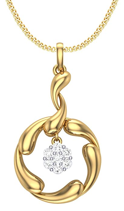 Clara Silvo 18K Gold Plated Sterling Silver Ava Pendant with Chain