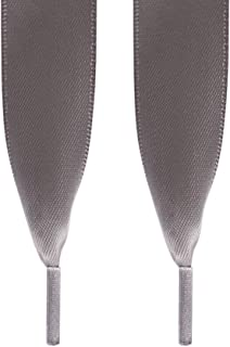SHIDEDIAN - Cordones de satén para Zapatillas, 30 Colores, Doble Cara, poliéster, 120 cm/2 cm 04# 2 * 120cm