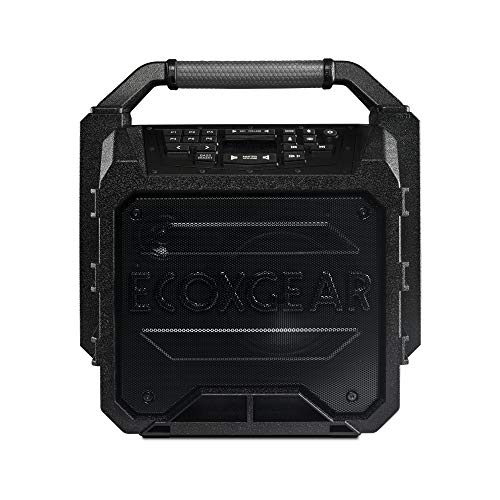 ECOXGEAR EcoSoundstation GDI-EXSNDST801 Rugged Waterproof Floating Portable Bluetooth Wireless 70 Watt Workshop Speaker and PA System
