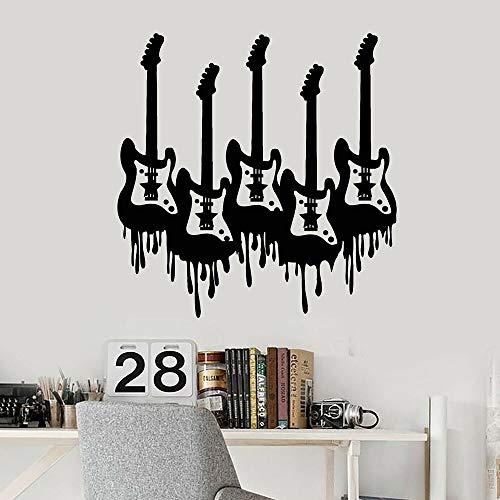 Banda de música rock Instrumento musical Guitarra eléctrica Bajo Vinilo Etiqueta de...