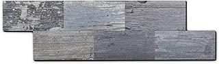 Yipscazo Peel and Stick Tile Backsplash, PVC Light Rustic Backsplash Wood Tile for Kitchen Peel and Stick (13
