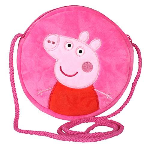 Peppa Wutz Schultertasche Schorsch Crossover Bag Umhängetasche Mädchen Junge (Peppa Pink)