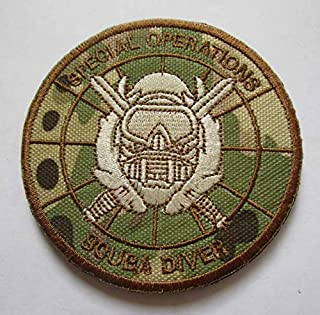 Special Operations Scuba Diver Military Patch Fabric Embroidered Badges Patch Tactical Stickers for Clothes with Hook & Loop