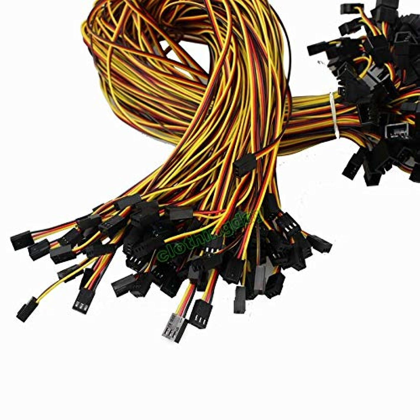 FidgetKute 10pcs Black 60cm 3 Pin Male to Female PC Computer Fan Power Extension Cable New