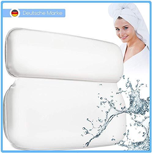 husstand® Komfort Badewannenkissen mit Saugnäpfen - Verbessertes Design 2020 - Badekissen für Badewannen - Badewannenkopfkissen Weiß - Wannenkissen inkl. Geschenkverpackung - Wellness Pillow...
