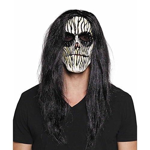 Maschera viso Voodoo in lattice con capelli