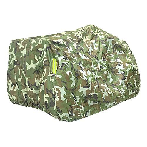 H HILABEE Materiale Ad Resistenza Ripstop M-XXXL Copertura Professionale per ATV 4 Ruote Copertura Quadrupla per Proteggere L ATV Dalla Grandine Del Sole - XL camouflage