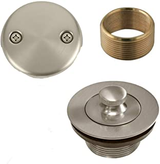 Brass Lift and Turn Bath Tub Drain Conversion Kit Assembly Nickel