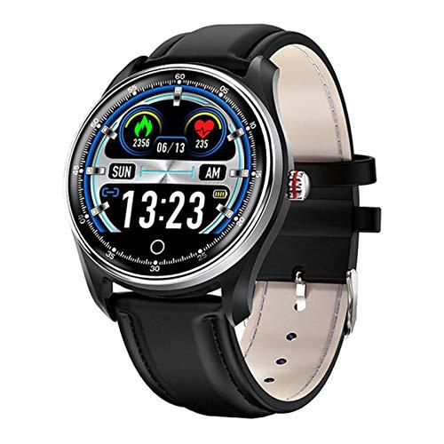 JXFF Hombres Y Mujeres N58 Smart Watch Pulsera Deportiva PPG ECG Ratio Cardíaco Informe De Ritmo Cardíaco Prueba De Presión Arterial IP67 Soporte Pedómetro Sueño Android iOS,C
