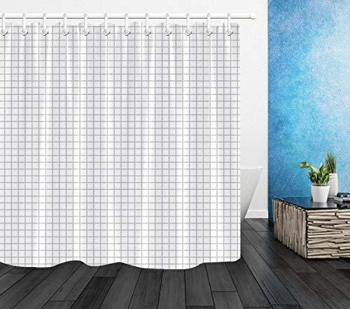 dsgrdhrty Einfaches gestreiftes Quadrat Badezimmer Duschvorhang dekorativen Stil wasserdicht 180x180