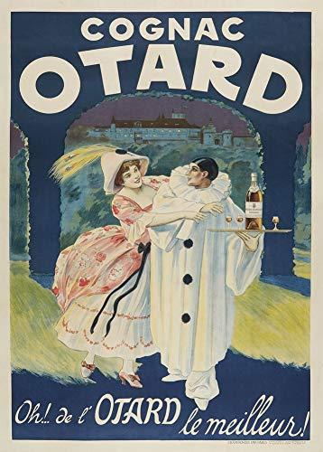 Vintage bieren, wijnen en sterke drank 'Cognac Otard', Frankrijk, 1922, 250gsm Zacht-Satijn Laagglans Reproductie A3 Poster