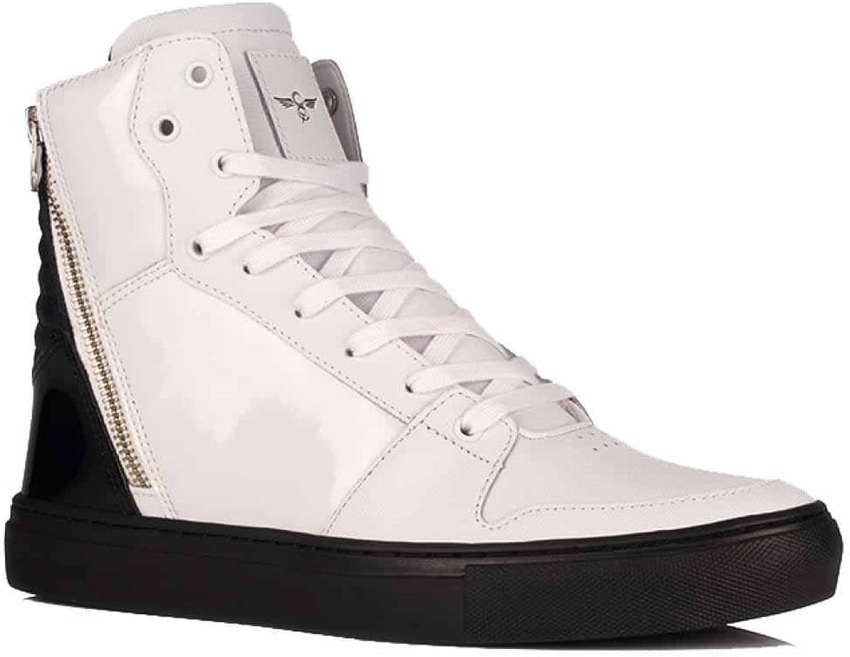 Kreativ rekreation Adonis skor i vit svart Patent Patent Patent  Beställ nu med stor rabatt och gratis leverans