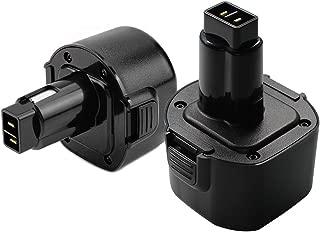 2 Packs 3.6Ah Ni-MH for Dewalt 9.6 volt Battery Dw9061 Dw9062 De9036 De9062 Dw926 Dw955K Dw955 Dw926K-2 Dw926k Dw902 Dw050 De9061 Dw955K-2 Dw050K Replacement for Dewalt 9.6v Battery