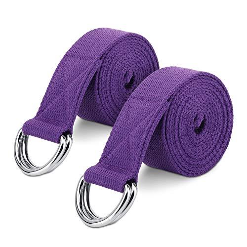 MoKo Yoga Correa - [2 Pzs] Durable Algodón Suave de Estiramiento Fitness Ejercicio...