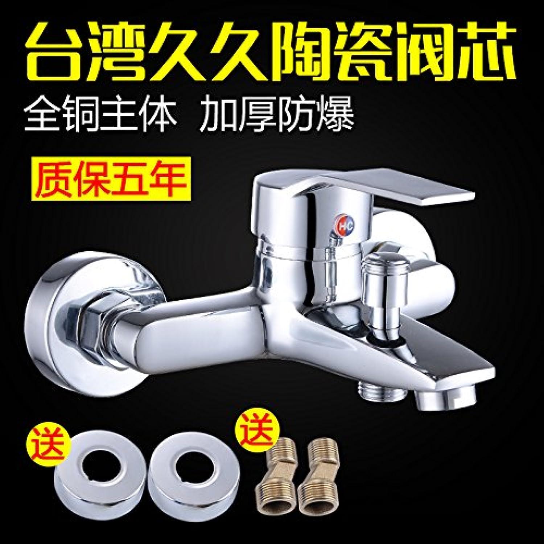 SADASD Contemporary Bathroom Faucet Full Copper Triple Bath Shower Ceramic Valve Single Hole Single Handle Hot Cold Water