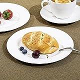 Sunting Porzellan Kaffeeservice für 6 Personen. Premium Neues Bone China Geschirrset Runde CremeWeiß Kaffeegeschirr Set. 18-teilig Elfenbein Weiß Kaffeetassen Set mit Untertassen Kuchenteller - 6