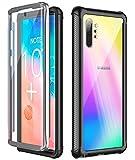 Temdan Samsung Galaxy Note 10+ Plus 5G Hülle, Stoßfest Transparent 360 Grad Armor mit Eingebautem Bildschirmschutz Hülle für Samsung Note 10+ Plus 5G, Unterstützung vom Fingerabdruck Entsperrung