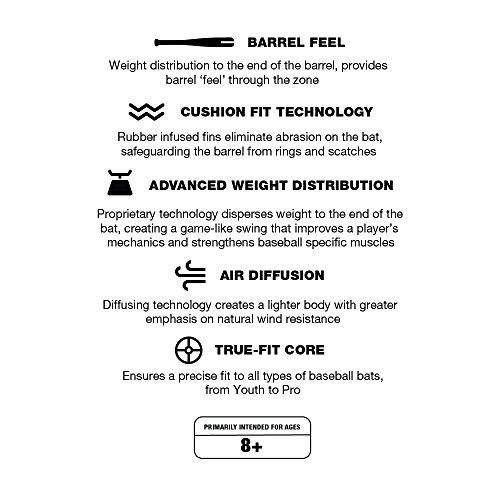 Varo ARC Bat Training Weight, 12oz, for Baseball (MLB Authentic) - Barrel Feel - Improve Your Batting, Barrel Speed, and Develop Swing Mechanics