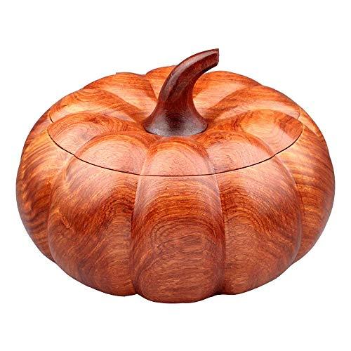 ZXL Asbak met deksel - Asbak gemaakt van massief hout voor thuis/opbergdoos/doos met chocolade/ambachten/ornamenten/snackboxen etc. (Kleur: Oranje-L)