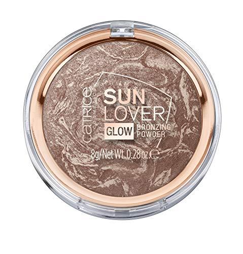 Catrice Sun Lover Glow Bronzing Powder, Puder, Nr. 010 Sun-kissed Bronze, braun, für Mischhaut, für unreine Haut, für trockene Haut, schimmernd, vegan, Nanopartikel frei, ohne Parfüm (8g)