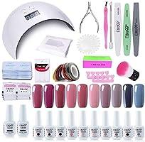 Elite99 Smalto Semipermanente per unghie Kit di Partenza in 6 coloris Gel 24 W LED Lampada UV Nail Dryer Soak Off...