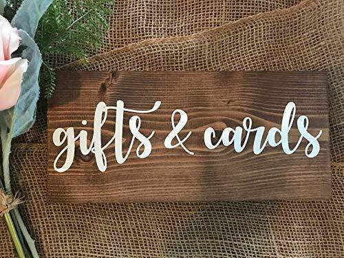 Modtory Geschenke und Karten, Hochzeitsschild, Gifts und Karten, Holzschild, Dekoration für Hochzeiten, Hochzeit, Hochzeit, Empfang, Dekoration, Empfang, Empfang, Dekoration