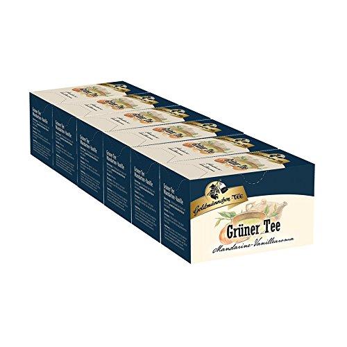 Goldmännchen-TEE Grüner Tee Mandarine-Vanille 6er Pack