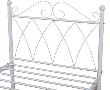 Panana Lit Simple Adult en Méal 1 Place Design Comfort 198 x 96 x 94 cm, Blanc